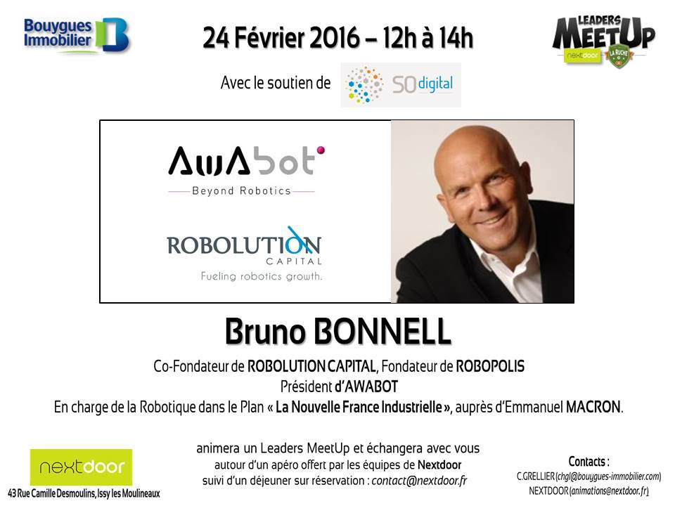 Invitation Leaders Meetup - 24 Février 2016